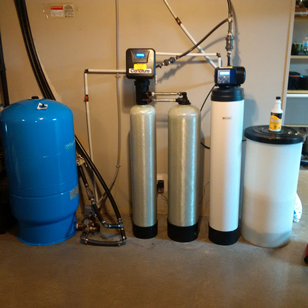 water filter unit in house
